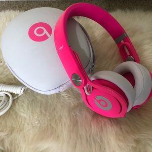 Beats Mixr Pink Headphones. Limited edition